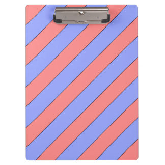 diagonal stripes pink and purple clipboard