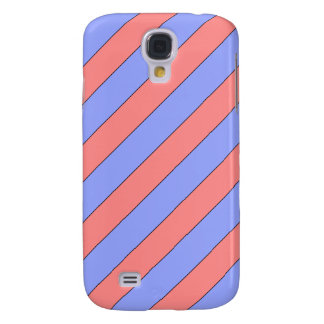 diagonal stripes pink and purple galaxy s4 cover