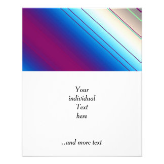 diagonal stripes purple blue 11.5 cm x 14 cm flyer