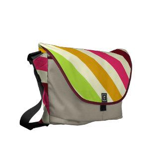 Diagonal Stripes Rickshaw Messenger Bag
