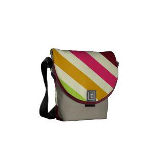Diagonal Stripes Rickshaw Mini Messenger Bag