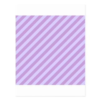 Diagonal Stripes Wisteria and Pale Lavender Postcard
