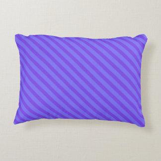 Diagonal Violet Purple Stripes Accent Cushion
