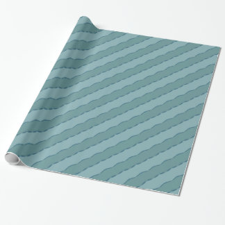 Diagonal wavy stripes wrapping paper
