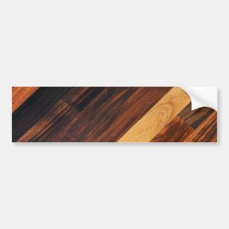 Diagonal Wood Flooring Bumper Sticker