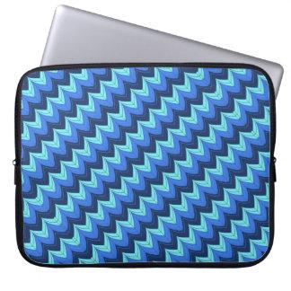 Diagonal zigzag arches laptop sleeves