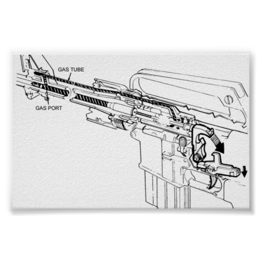 diagram of an m16 rifle firing posters zazzle
