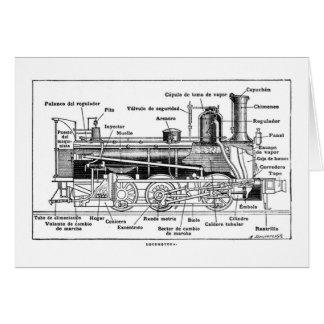 Diagram of Steam Engine Card