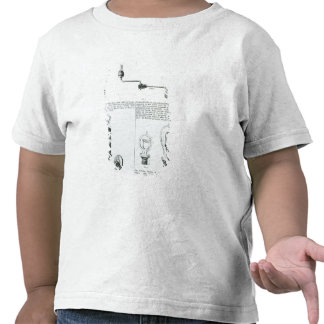 Diagrams of lightbulbs and their brackets shirt