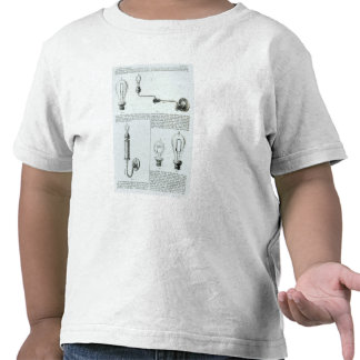 Diagrams of lightbulbs and their brackets t-shirts