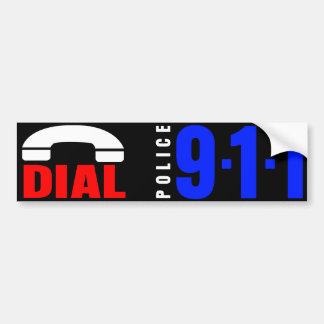 Dial 911 Police Sticker 6