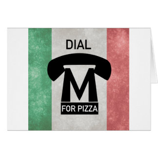 Dial M for PIZZA parody Greeting Card
