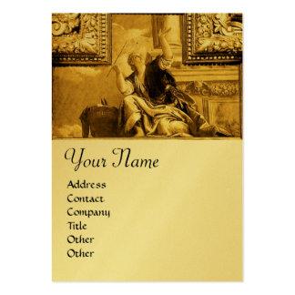 Dialectics Monogram ,gold metallic yellow Business Card Template