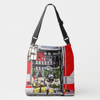 Dials and Hoses on Fire Truck Crossbody Bag