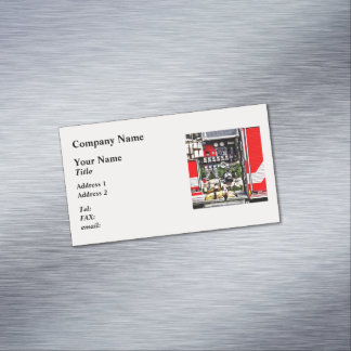 Dials and Hoses on Fire Truck Magnetic Business Card