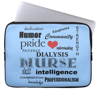 Dialysis Nurse-Attributes/Blue-13 inch Laptop Sleeve