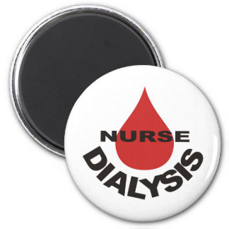 Dialysis Nurse Blood Drop Over Magnet