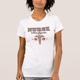 Dialysis Nurse T shirt Pink Caduceus