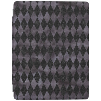 DIAMOND1 BLACK MARBLE & BLACK WATERCOLOR iPad COVER