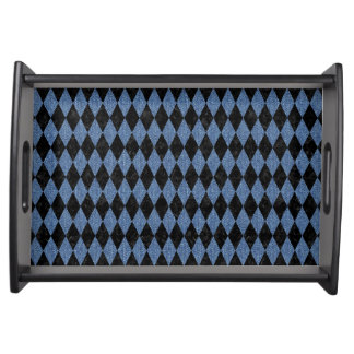 DIAMOND1 BLACK MARBLE & BLUE DENIM SERVING TRAY