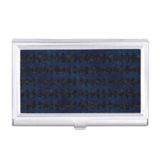 DIAMOND1 BLACK MARBLE & BLUE GRUNGE BUSINESS CARD HOLDER