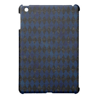 DIAMOND1 BLACK MARBLE & BLUE GRUNGE iPad MINI CASE