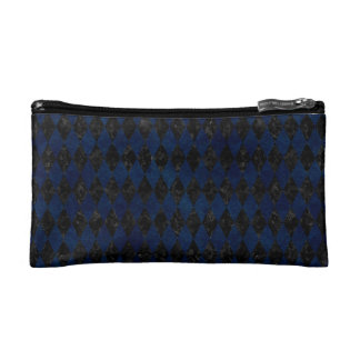 DIAMOND1 BLACK MARBLE & BLUE GRUNGE MAKEUP BAG