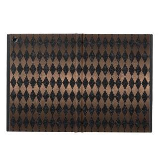 DIAMOND1 BLACK MARBLE & BRONZE METAL iPad AIR COVER