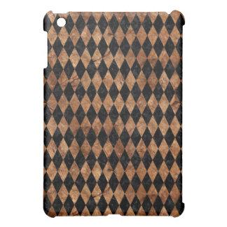 DIAMOND1 BLACK MARBLE & BROWN STONE iPad MINI COVERS