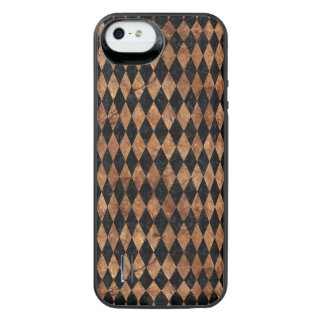 DIAMOND1 BLACK MARBLE & BROWN STONE iPhone SE/5/5s BATTERY CASE