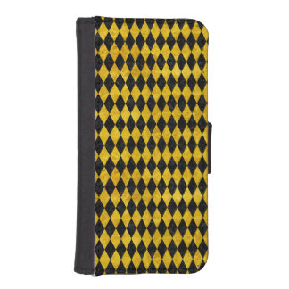 DIAMOND1 BLACK MARBLE & YELLOW MARBLE iPhone SE/5/5s WALLET CASE
