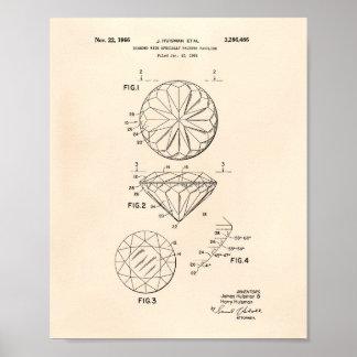 Diamond 1966 Patent Art Old Peper Poster