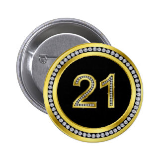 Diamond 21st Birthday Pin