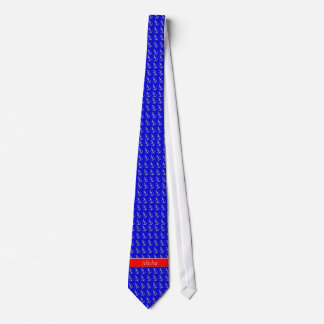 Diamond Anchors On The Blue Ocean Monogram Tie