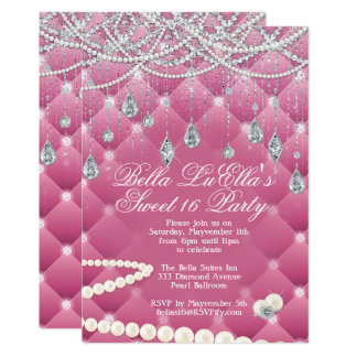 Diamond and Bling Party Invitations