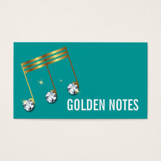 Diamond and Gold Musical Note Business Card. Business Card