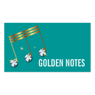 Diamond and Gold Musical Note Business Card. Pack Of Standard Business Cards