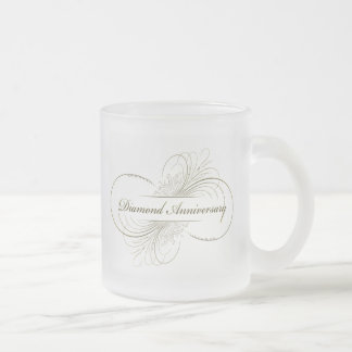 Diamond anniversary frosted mug