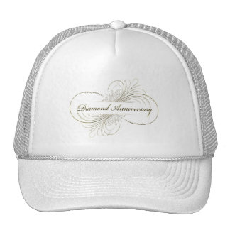 Diamond anniversary hats