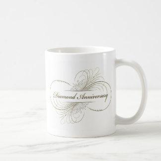 Diamond anniversary coffee mug