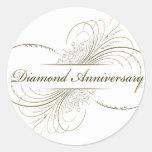Diamond anniversary round stickers