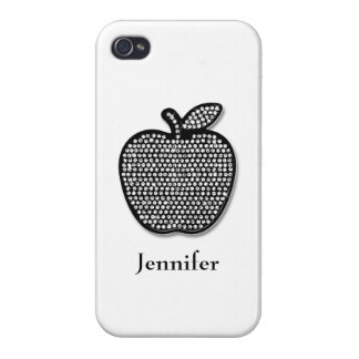 Diamond Apple Customizable White Covers For iPhone 4