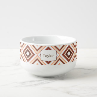 Diamond Aztec design Soup Mug