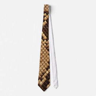 Diamond Back Snake Skin Tie
