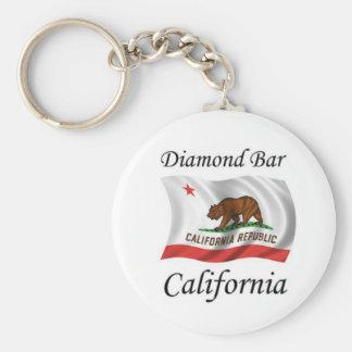 Diamond Bar California Basic Round Button Key Ring