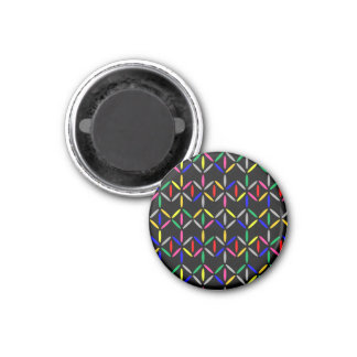 diamond bars bold on black fridge magnet