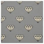 Diamond: black, grey & white fabric