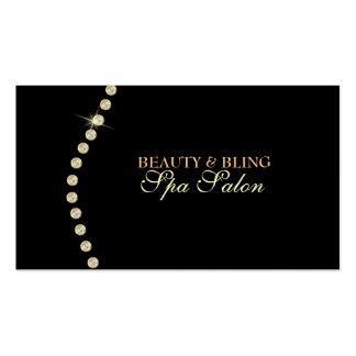 Diamond Bling Beauty Spa Salon Business Card