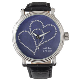 Diamond - Bling Love Hearts - Customizable Watch
