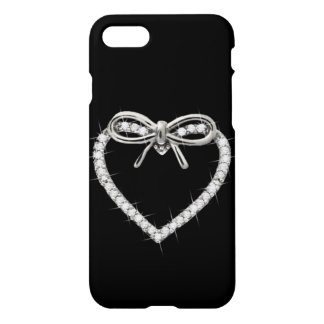 Diamond Bow Heart iPhone 7 Case